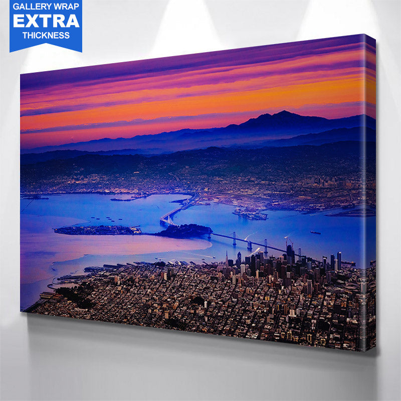 Colorful Aerial San Francisco Bay Canvas