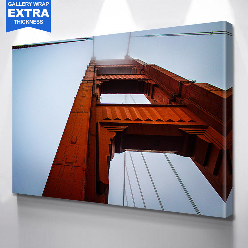 Golden Gate Bridge San Francisco From Below Canvas