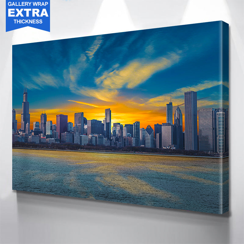 Sunny Chicago Skyline Canvas