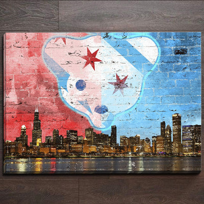 Waveland Chicago Skyline Canvas