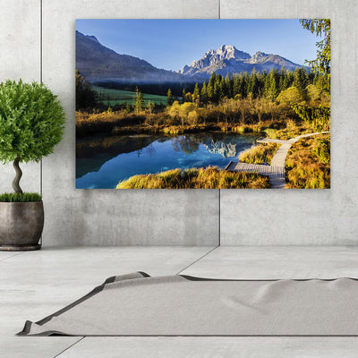 Mountain Peak Pound Reflection Wall Art Canvas Art