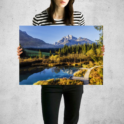 Mountain Peak Pound Reflection Wall Art High Quality Print Wall Art