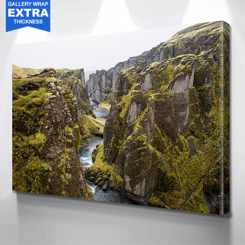 Deep River Canyon Coast Wall Art Canvas Art
