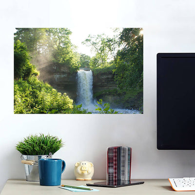 Water Fall in Forest Wall Art Wall Decal Wall Art
