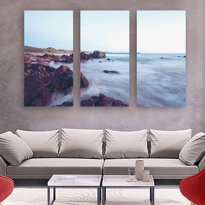 Beautiful Mystic Water Coast Wall Art Multi Panel Canvas Wall Art