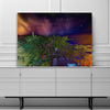 Chicago Aerial Abstract Skyline Canvas Motivational Wall Art