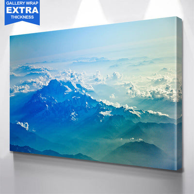 Into the Clouds Mountain Wall Art Canvas Art