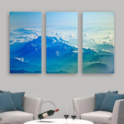 Into the Clouds Mountain Wall Art Multi Panel Canvas Wall Art