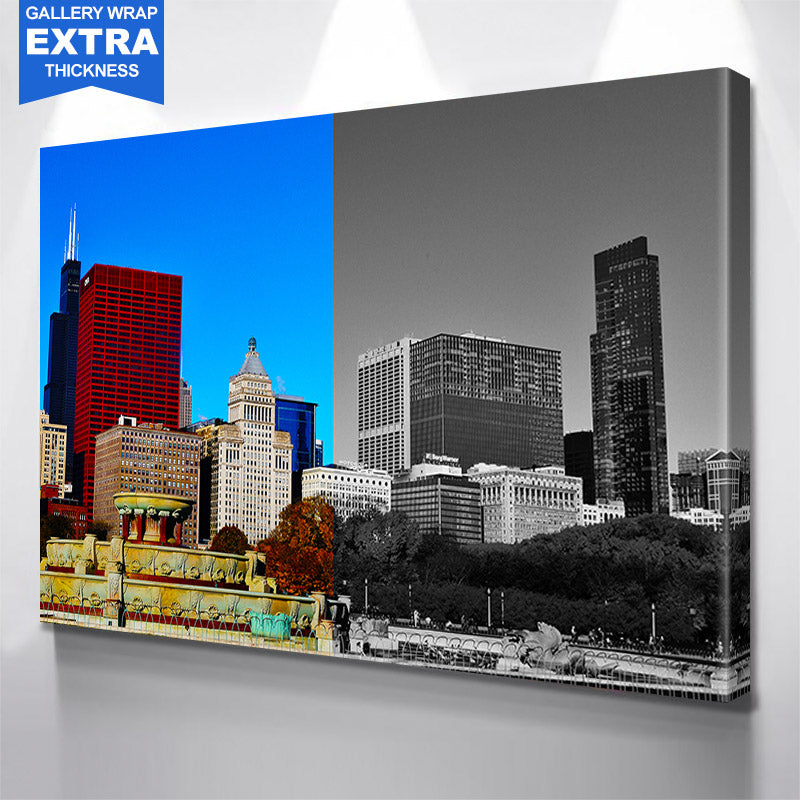 Half & Half Grant Park Chicago Canvas Motivational Wall Art