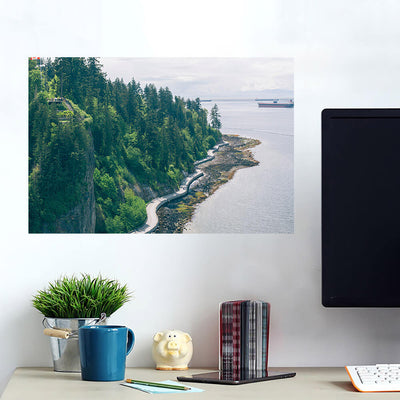 Canadian Coast Forest Cliff Ocean Wall Art Wall Decal Wall Art