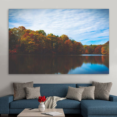 Fall Pound Refection Wall Art Canvas Art
