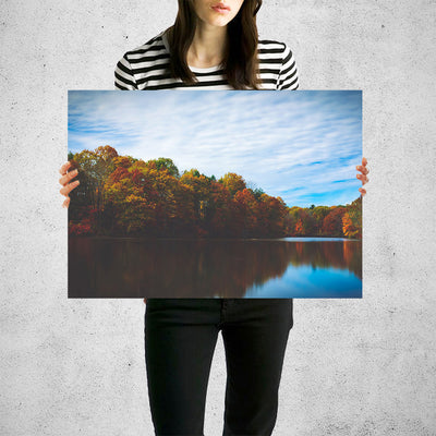 Fall Pound Refection Wall Art High Quality Print Wall Art
