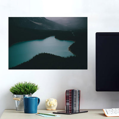 Dark Lake Mountainside Wall Art Wall Decal Wall Art