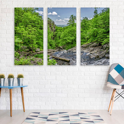 River Stream Forest Hills Wall Art Multi Panel Canvas Wall Art
