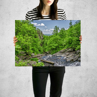 River Stream Forest Hills Wall Art High Quality Print Wall Art