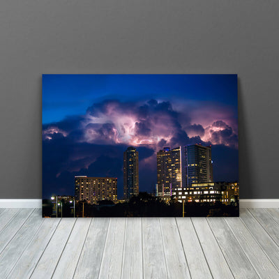 Stormy Austin Skyline Wall Art Canvas Art