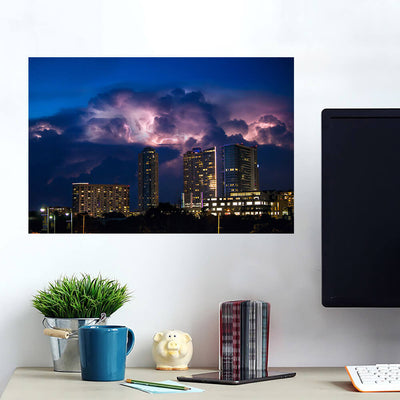 Stormy Austin Skyline Wall Art Wall Decal Wall Art