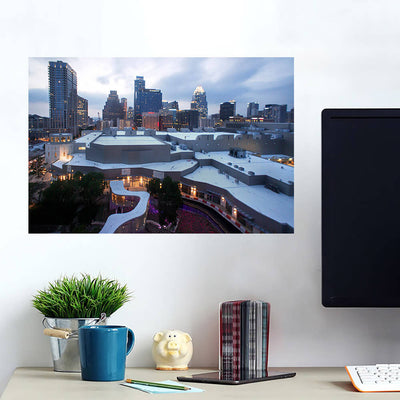 Downtown Austin Skyline Wall Art Wall Decal Wall Art