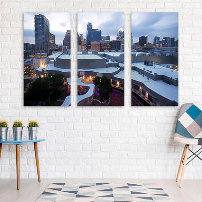Downtown Austin Skyline Wall Art Multi Panel Canvas Wall Art