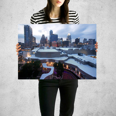 Austin Downtown Skyline Wall Art High Quality Print Wall Art