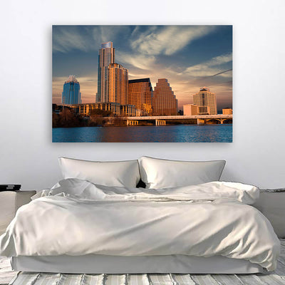 Sunny Austin Skyline Wall Art Canvas Art