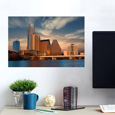 Sunny Austin Skyline Wall Art Wall Decal Wall Art