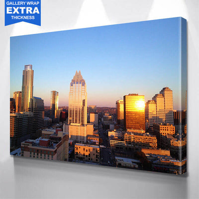 Austin Aerial Skyline Wall Art Canvas Art