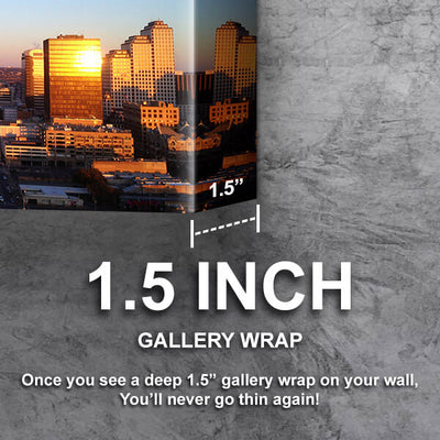 Austin Aerial Skyline Wall Art Canvas Cornors Wall Art
