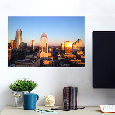 Austin Aerial Skyline Wall Art Wall Decal Wall Art