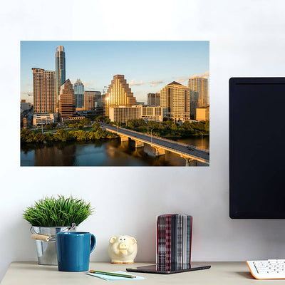 Blue Atlanta Skyline Wall Decals Wall Decals on Wall