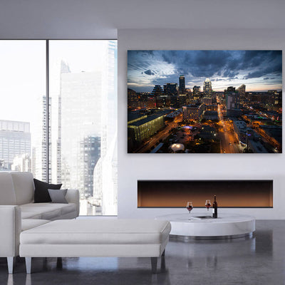 Austin Dusk Skyline Canvas Wall Art Multi Panel Canvas Wall Art