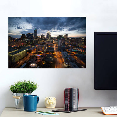 Dusk Austin Skyline Wall Art Wall Decal Wall Art