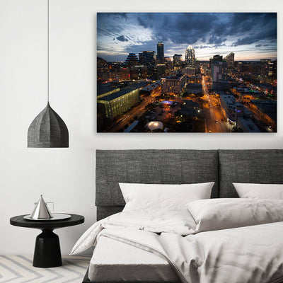 Dusk Austin Skyline Wall Art Canvas Art