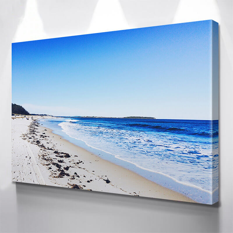 Blue Beach Front Wall Art Canvas Art