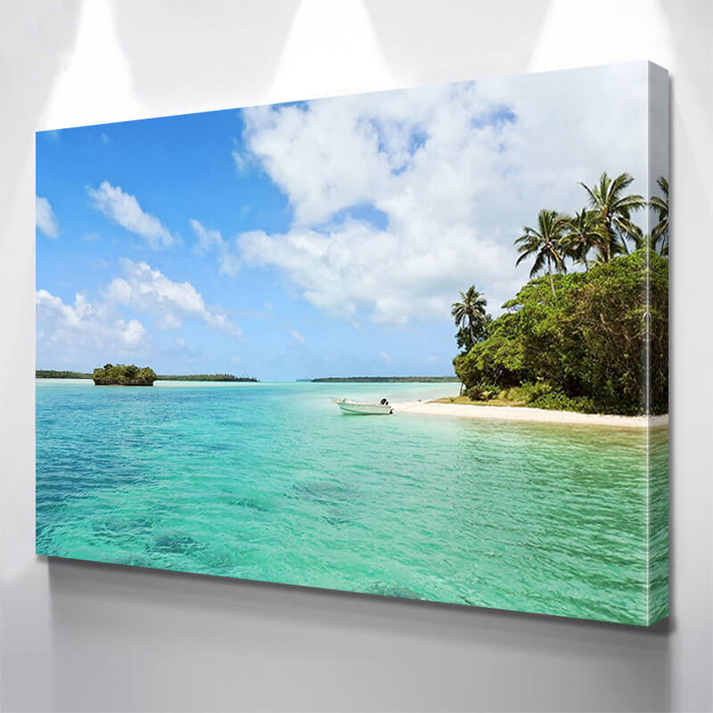 Beach Bay Tropical Wall Art Canvas Art