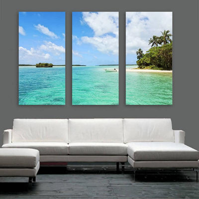 Beach Bay Tropical Wall Art Multi Panel Canvas Wall Art