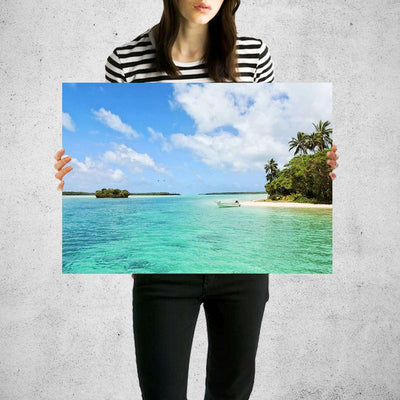 Beach Bay Tropical Wall Art Print High Quality Print