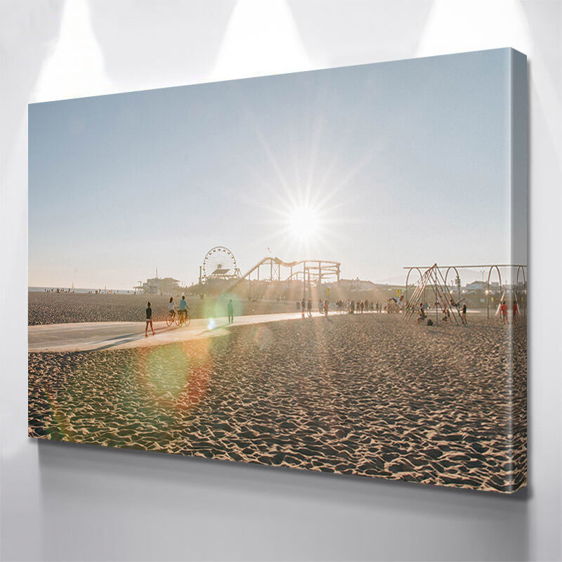 Santa Monica Beach Day  Wall Art Canvas Art
