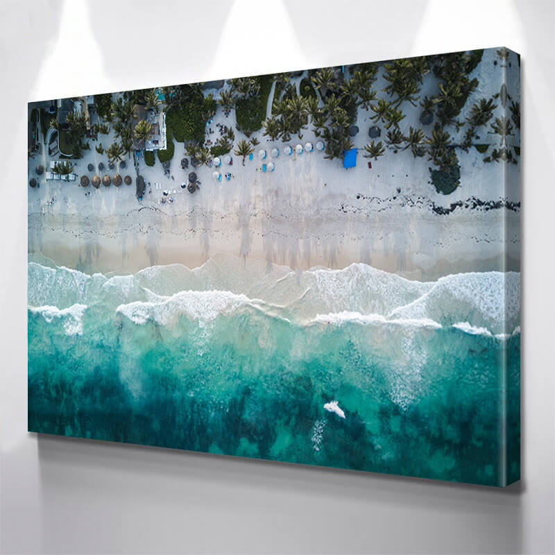 Aerial Tropical Beach Wall Art Canvas Art