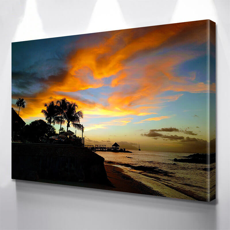 Amazing Sky Beach Barbados Wall Art Canvas Art