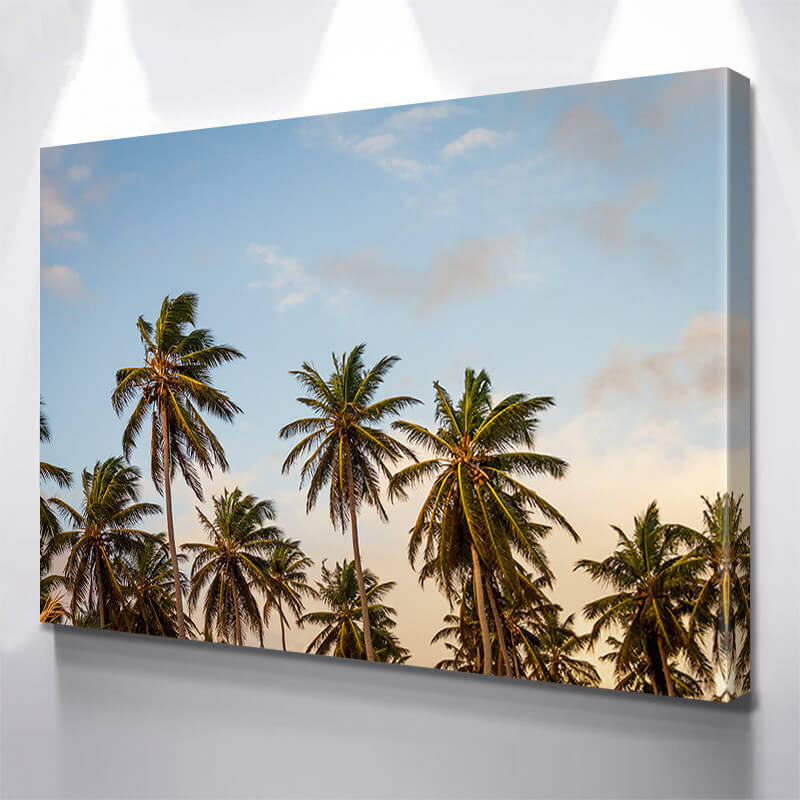 Palm Trees Beach Miami Wall Art Canvas Art