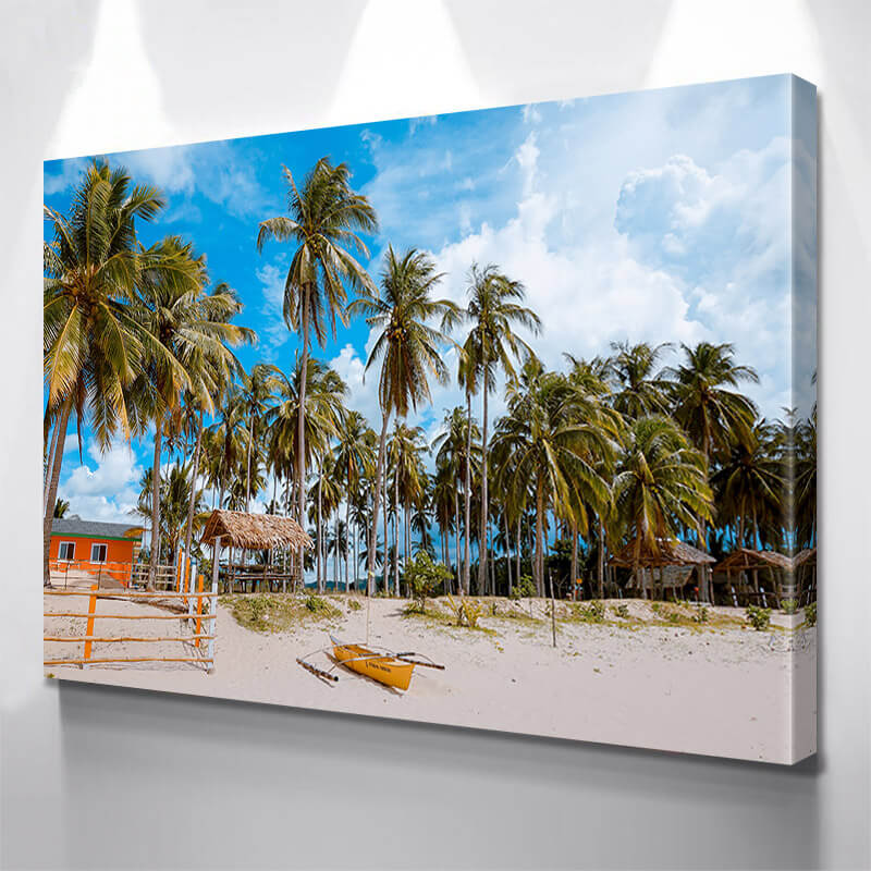 Beach Pardise Palm Trees Wall Art Canvas Art