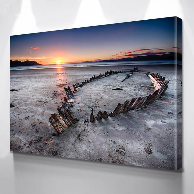 Sunset Beach  Wall Art Canvas Art