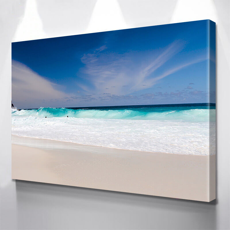 Miami Beach Waves Crashing Wall Art Canvas Art