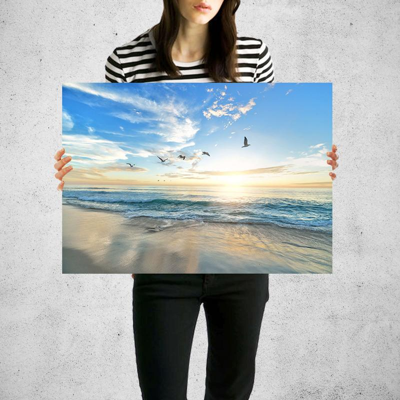California Beach Sunset Wall Art Print