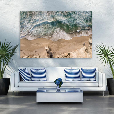 Cabo Aerial Beach Waves Canvas Wall Art Multi Panel Canvas Wall Art