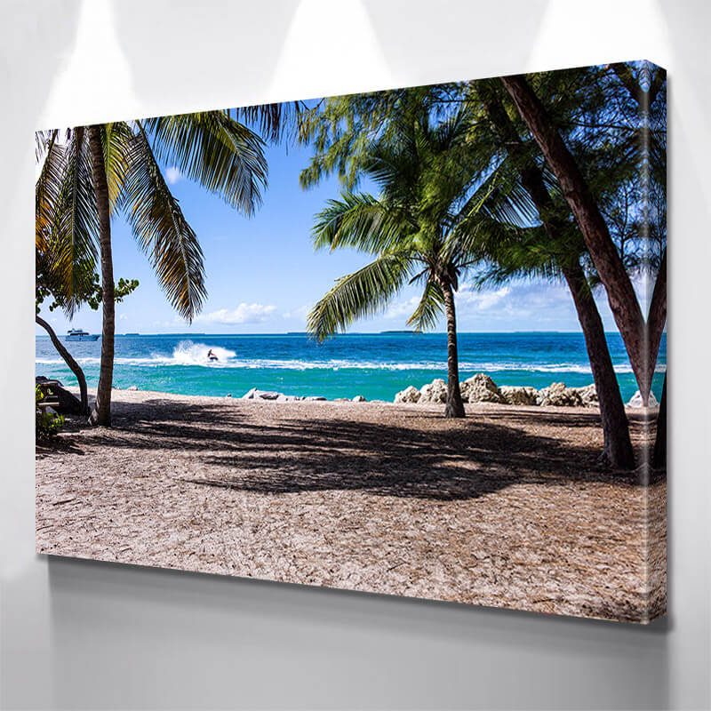 Costa Rica Beach Palm Trees Wall Art Canvas Art