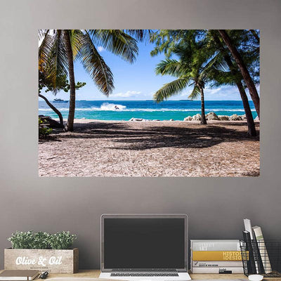 Blue Beach Ocean Cove Wall Decals Wall Decals on Wall