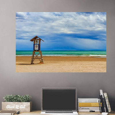 Hawian Beach Aerial Wall Decals Wall Decals on Wall