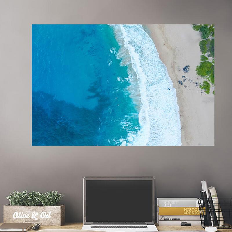 Overhead Beach Wall Decals Peel Stick Re Movable Wall Art Zapwalls